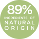 89% ingredients of natural origin